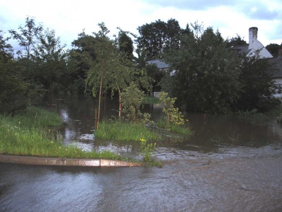 Flooding adjacent to the Paddock  at Great Dalby